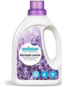 Płyn do płukania tkanin  lawendowy - Sodasan 750 ml