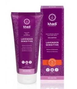 Lawenda - delikatny szampon Ajurwedyjski do wrażliwej skóry głowy - Khadi 200 ml