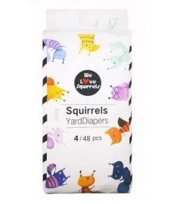 Pieluszki jednorazowe rozmiar 4 (9-14 kg) - Squirrels 48 szt.