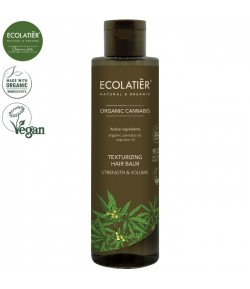 Teksturuzujący balsam z olejem konopnym Moc i Objętość - ECOLATIER 250 ml