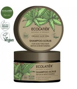 Szampon - peeling do skóry głowy i włosów z aloesem - ECOLATIER 250 ml