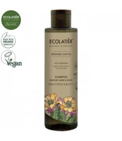 Szampon do włosów suchych z ekstraktem z kaktusa Wygładzenie i Piękno - ECOLATIER 250 ml