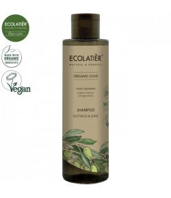 Szampon do włosów Miękkość i Połysk z organiczną oliwą z oliwek - ECOLATIER 250 ml