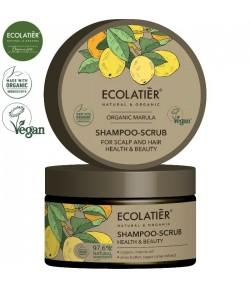 Szampon - peeling do skóry głowy i włosów z organicznym olejem z maruli - ECOLATIER 250 ml