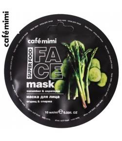 Maska do twarzy Ogórek i Szparagi - CAFE MIMI 10 ml