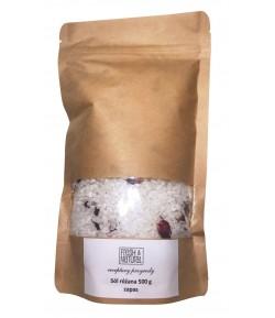 Refill Różana sól do kąpieli z Różą i Cytryną - Fresh&Natural 500g