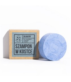 Delikatny szampon do włosów w kostce - Mydlarnia Cztery Szpaki 75 g