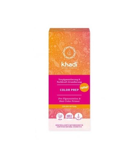 Color Prep Ziołowa baza do dwuetapowej koloryzacji włosów henną - Khadi 100 g