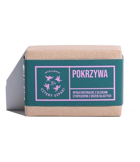 Mydło Pokrzywa z olejkami eterycznymi z drzew iglastych - Mydlarnia Cztery Szpaki 110g