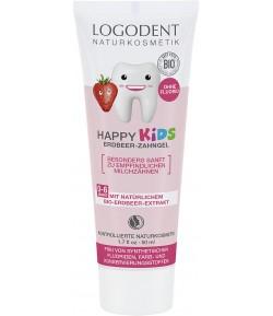 Żel do zębów dla dzieci - truskawkowy - Logona 50 ml