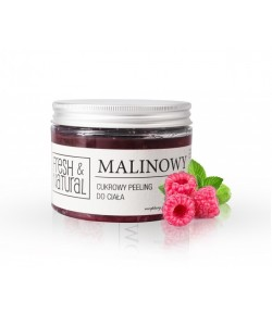 Cukrowy Peeling do ciała - Malinowy - Fresh&Natural 550g