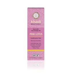 Różowy Lotos - ajurwedyjski olejek do twarzy i ciała - Khadi 100ml